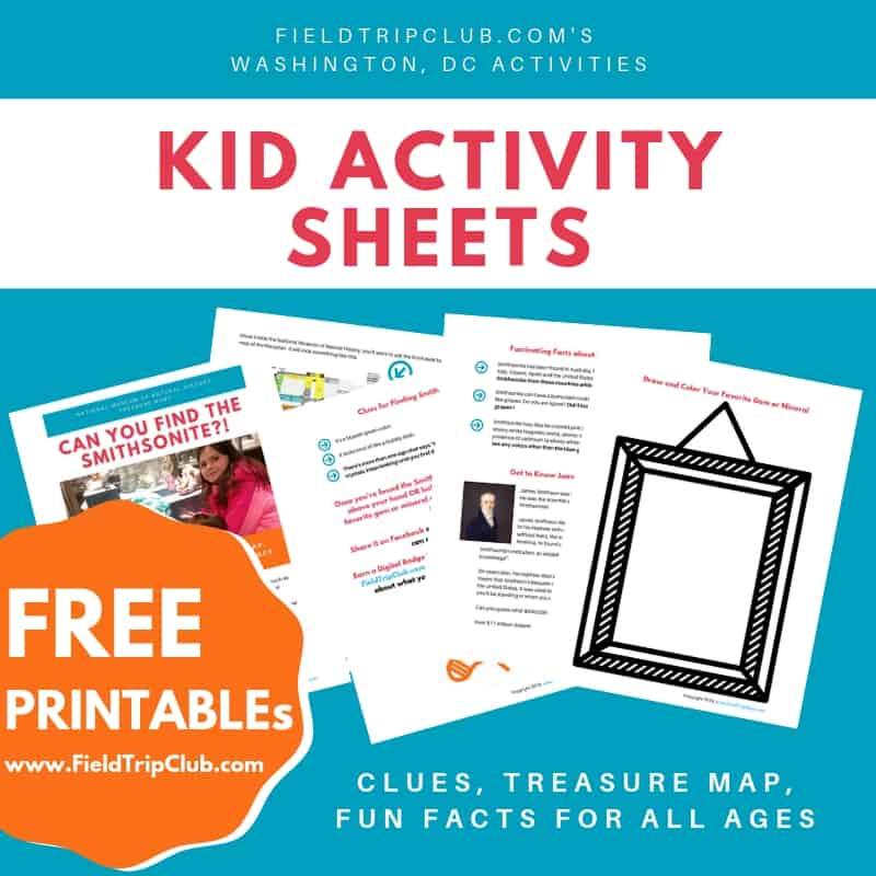 Washington, DC Kid Activity Sheets
