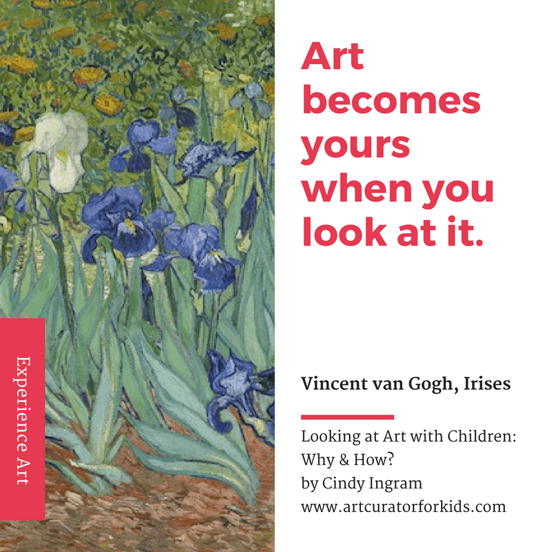 Art becomes yours when you look at it.