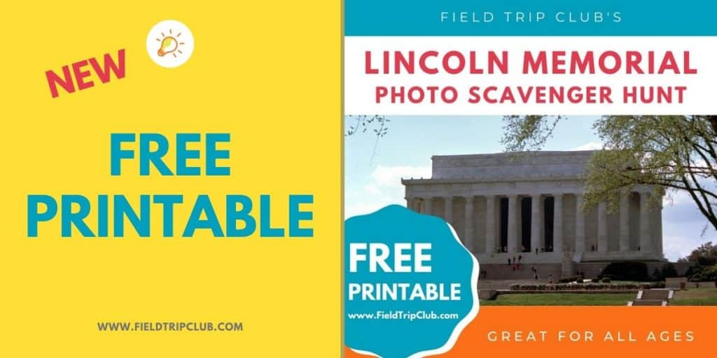 1200x600 Lincoln Memorial Photo Scavenger Hunt FREE