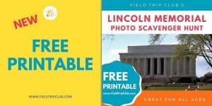 1200x600 Lincoln Memorial Photo Scavenger Hunt FREE