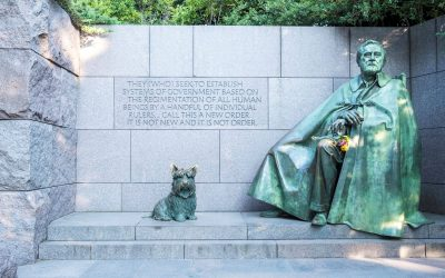 Fala, a Dog Statue in Washington, DC