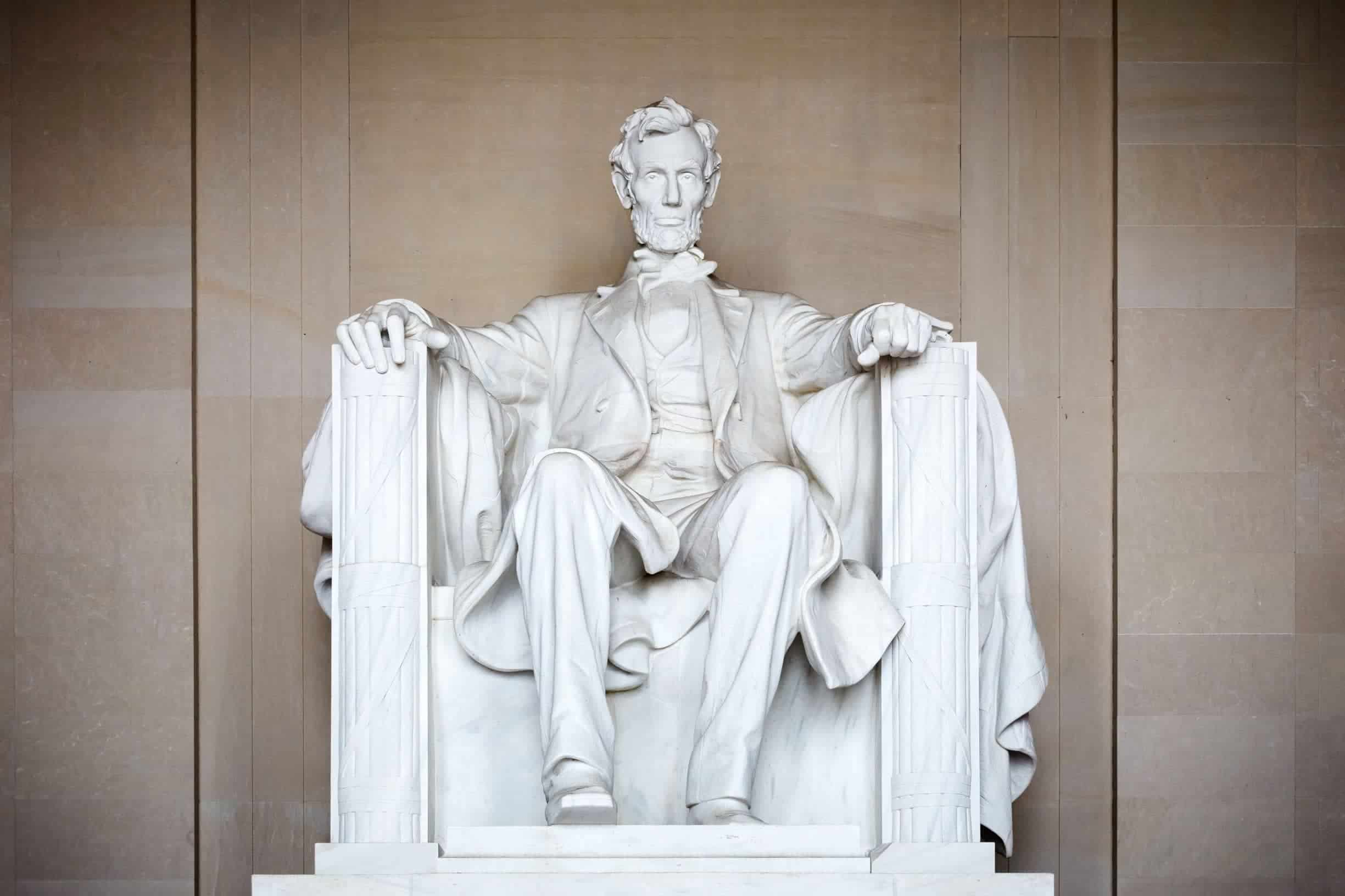 Lincoln Memorial Statue in Washington, DC