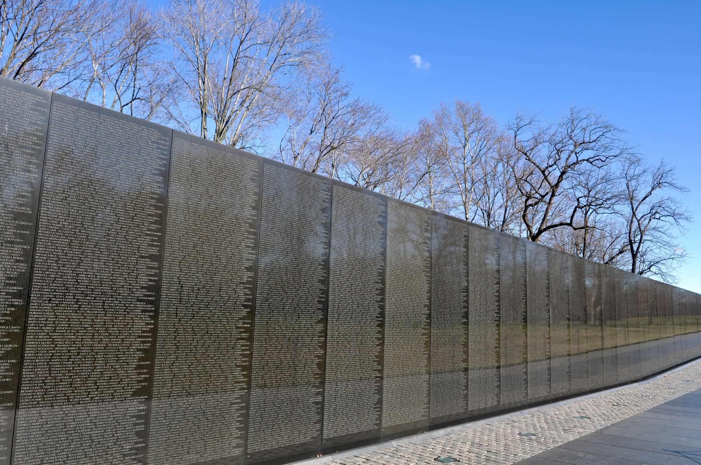 Vietnam Veterans Memorial Wall in Washington, DC