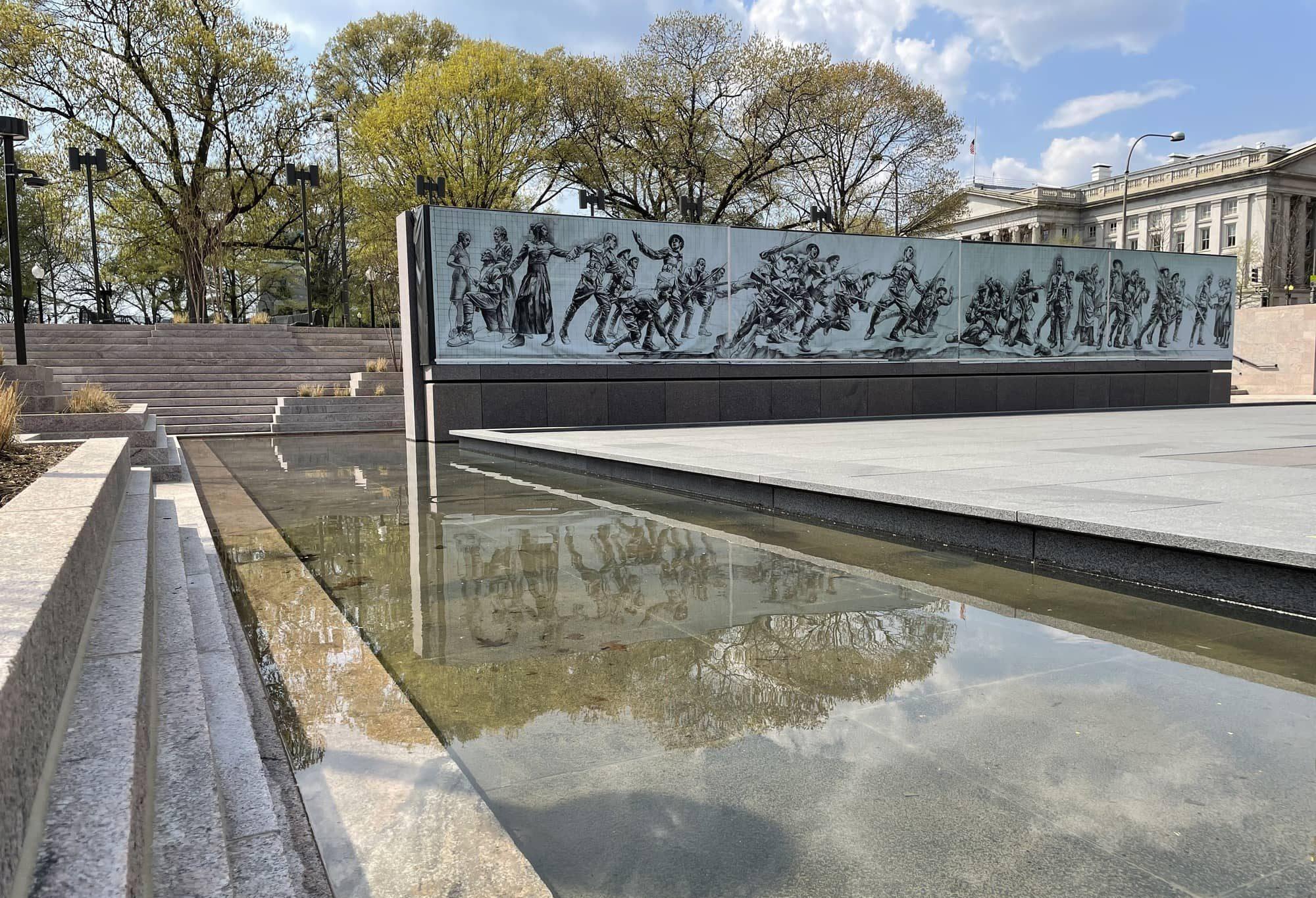 Vietnam Veterans Memorial Wall in Washington, DC